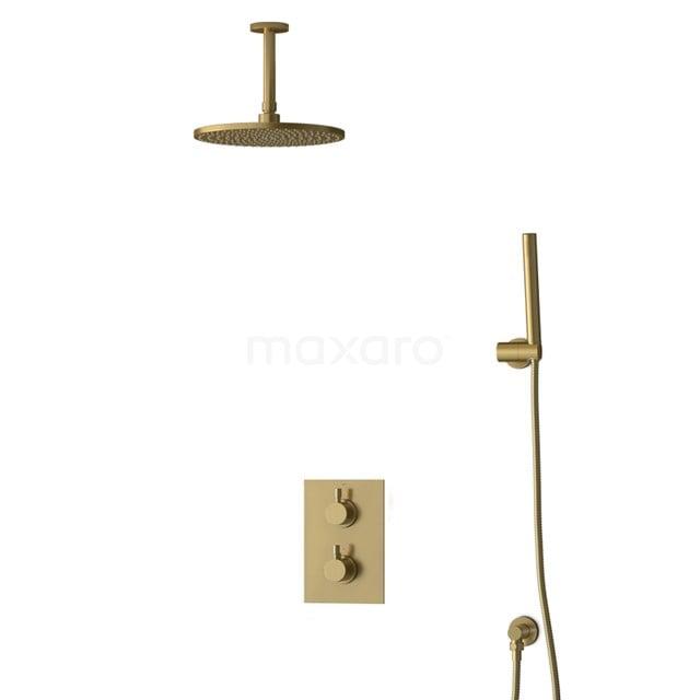 Inbouw Regendoucheset Radius Gold, Thermostaatkraan, 25cm Hoofddouche, Goud BIG55-00032