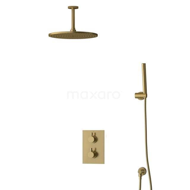 Inbouw Regendoucheset Radius Gold, Thermostaatkraan, 30cm Hoofddouche, Goud BIG55-00035