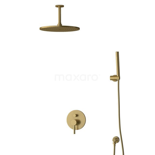 Inbouw Regendoucheset Radius Gold, Eéngreeps Mengkraan, 30cm Hoofddouche, Goud BIG55-00036