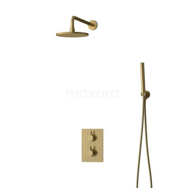 Inbouw Regendoucheset Radius Gold, Thermostaatkraan, 20cm Hoofddouche, Goud BIG55-00038