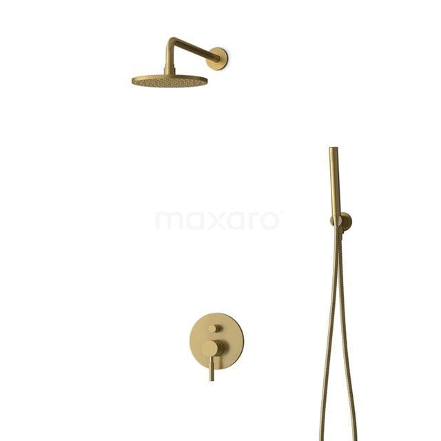 Inbouw Regendoucheset Radius Gold, Eéngreeps Mengkraan, 20cm Hoofddouche, Goud BIG55-00039