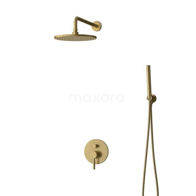 Inbouw Regendoucheset Radius Gold, Eéngreeps Mengkraan, 25cm Hoofddouche, Goud BIG55-00042