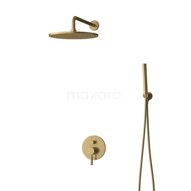 Inbouw Regendoucheset Radius Gold, Eéngreeps Mengkraan, 30cm Hoofddouche, Goud BIG55-00045