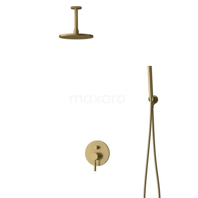 Inbouw Regendoucheset Radius Gold, Eéngreeps Mengkraan, 20cm Hoofddouche, Goud BIG55-00048