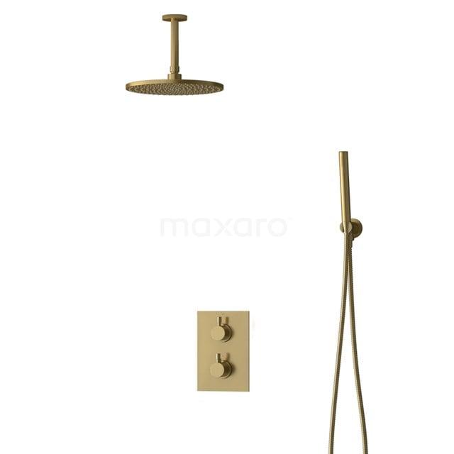 Inbouw Regendoucheset Radius Gold, Thermostaatkraan, 25cm Hoofddouche, Goud BIG55-00050