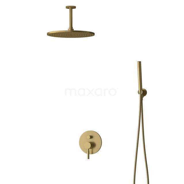 Inbouw Regendoucheset Radius Gold, Eéngreeps Mengkraan, 30cm Hoofddouche, Goud BIG55-00054