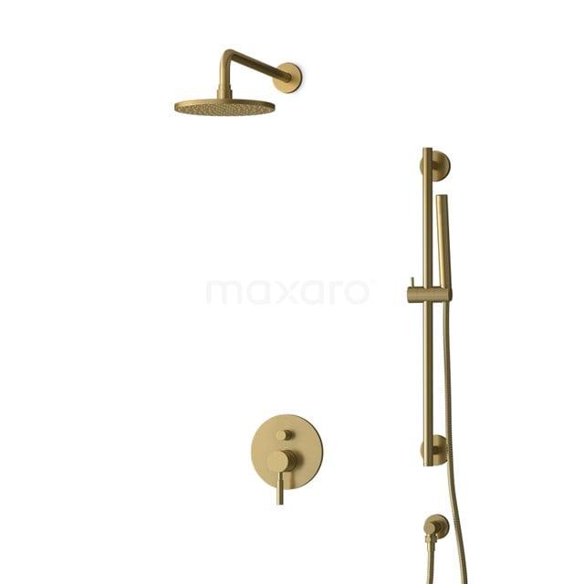 Inbouw Regendoucheset Radius Gold, Eéngreeps Mengkraan, 20cm Hoofddouche, Goud BIG55-00057
