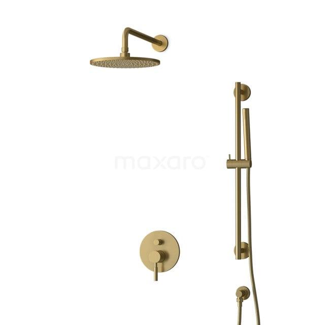 Inbouw Regendoucheset Radius Gold, Eéngreeps Mengkraan, 25cm Hoofddouche, Goud BIG55-00060