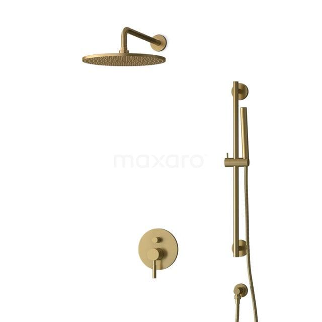 Inbouw Regendoucheset Radius Gold, Eéngreeps Mengkraan, 30cm Hoofddouche, Goud BIG55-00063