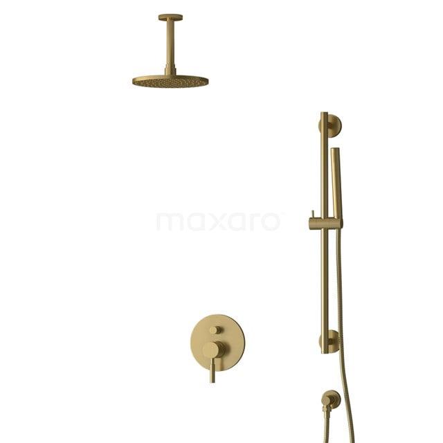 Inbouw Regendoucheset Radius Gold, Eéngreeps Mengkraan, 20cm Hoofddouche, Goud BIG55-00066