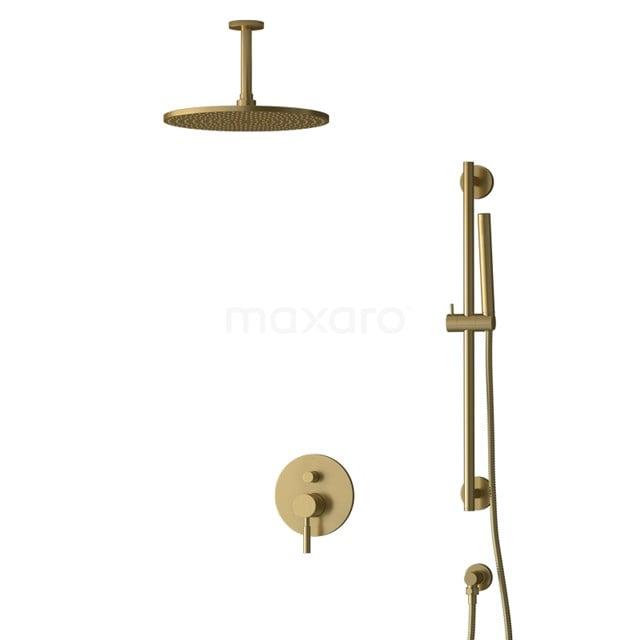 Inbouw Regendoucheset Radius Gold, Eéngreeps Mengkraan, 30cm Hoofddouche, Goud BIG55-00072
