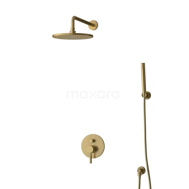 Inbouw Regendoucheset Radius Gold, Eéngreeps Mengkraan, 25cm Hoofddouche, Goud BIG55-00078