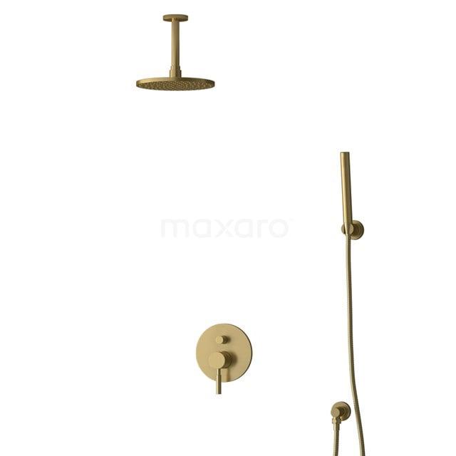 Inbouw Regendoucheset Radius Gold, Eéngreeps Mengkraan, 20cm Hoofddouche, Goud BIG55-00084