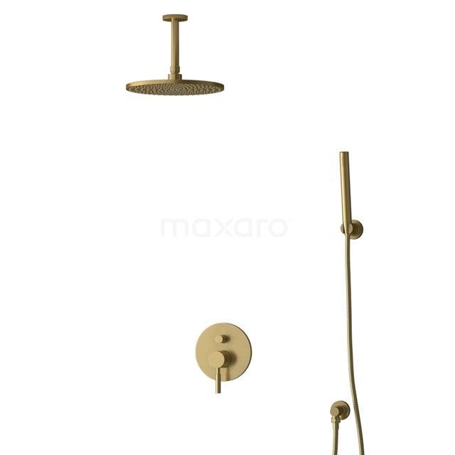Inbouw Regendoucheset Radius Gold, Eéngreeps Mengkraan, 25cm Hoofddouche, Goud BIG55-00087