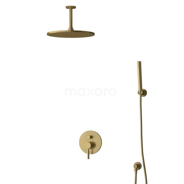 Inbouw Regendoucheset Radius Gold, Eéngreeps Mengkraan, 30cm Hoofddouche, Goud BIG55-00090