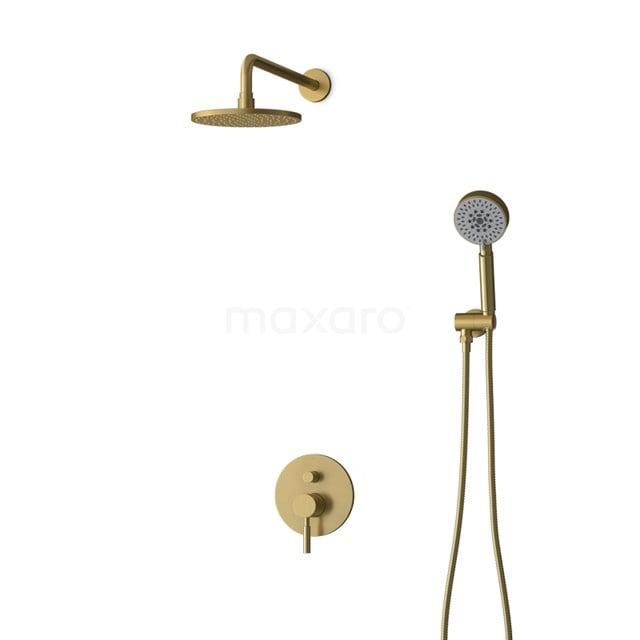 Inbouw Regendoucheset Radius Gold, Eéngreeps Mengkraan, 20cm Hoofddouche, Goud BIG55-00093