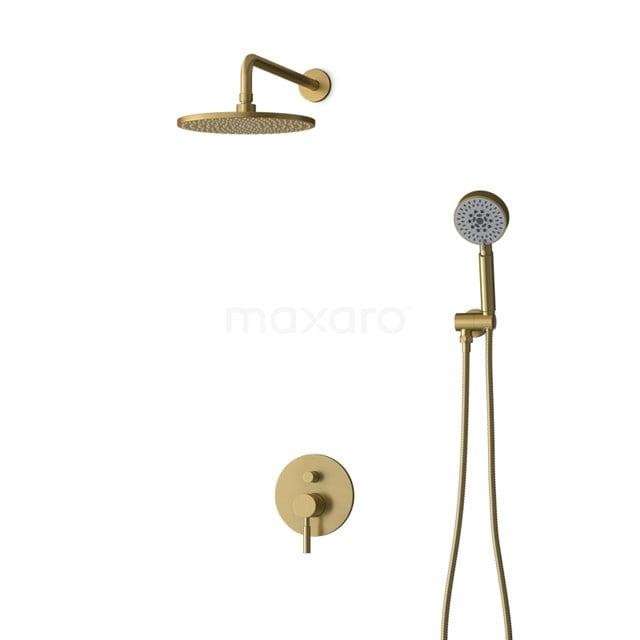 Inbouw Regendoucheset Radius Gold, Eéngreeps Mengkraan, 25cm Hoofddouche, Goud BIG55-00096