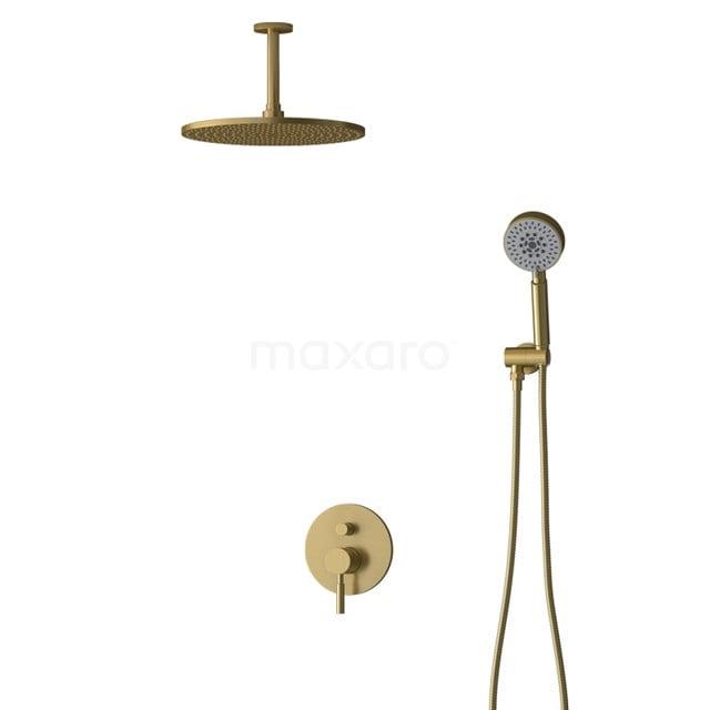 Inbouw Regendoucheset Radius Gold, Eéngreeps Mengkraan, 30cm Hoofddouche, Goud BIG55-00108