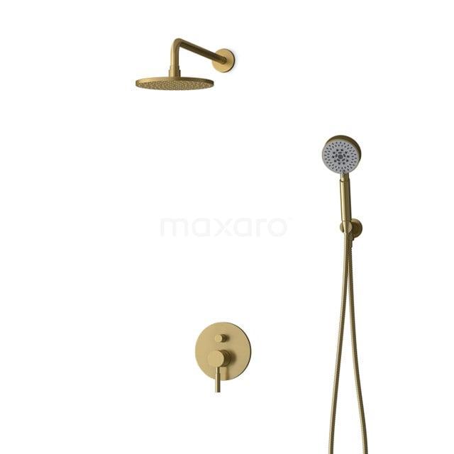 Inbouw Regendoucheset Radius Gold, Eéngreeps Mengkraan, 20cm Hoofddouche, Goud BIG55-00111