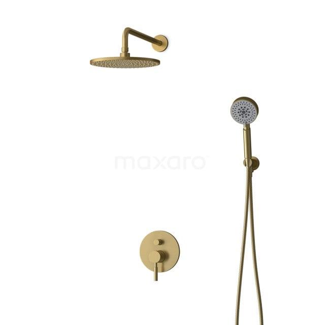 Inbouw Regendoucheset Radius Gold, Eéngreeps Mengkraan, 25cm Hoofddouche, Goud BIG55-00114