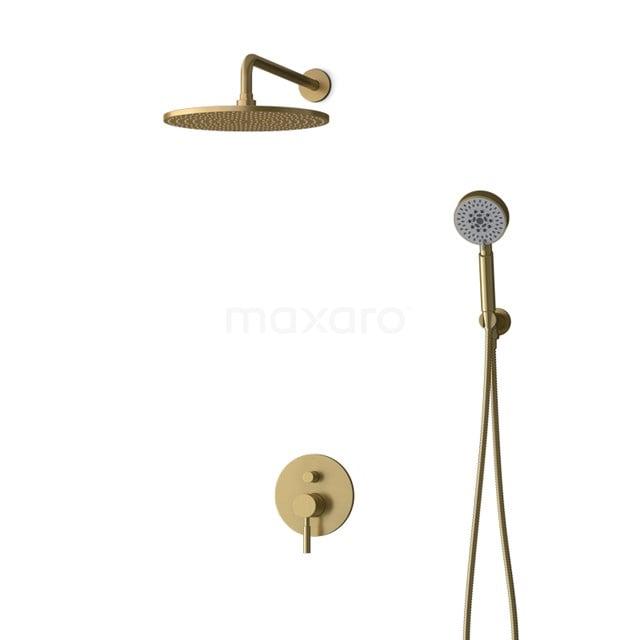 Inbouw Regendoucheset Radius Gold, Eéngreeps Mengkraan, 30cm Hoofddouche, Goud BIG55-00117