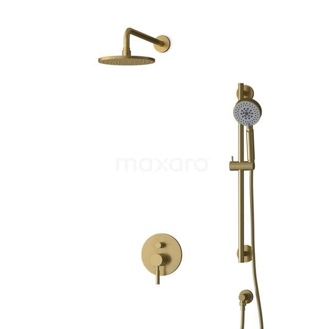 Inbouw Regendoucheset Radius Gold, Eéngreeps Mengkraan, 20cm Hoofddouche, Goud BIG55-00129