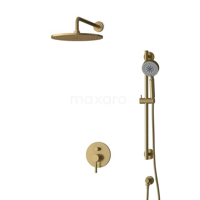 Inbouw Regendoucheset Radius Gold, Eéngreeps Mengkraan, 30cm Hoofddouche, Goud BIG55-00135
