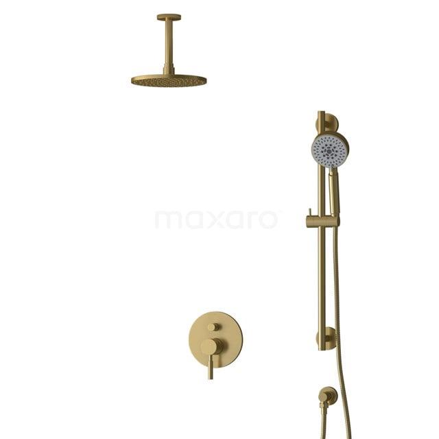 Inbouw Regendoucheset Radius Gold, Eéngreeps Mengkraan, 20cm Hoofddouche, Goud BIG55-00138