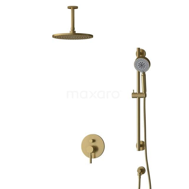Inbouw Regendoucheset Radius Gold, Eéngreeps Mengkraan, 25cm Hoofddouche, Goud BIG55-00141