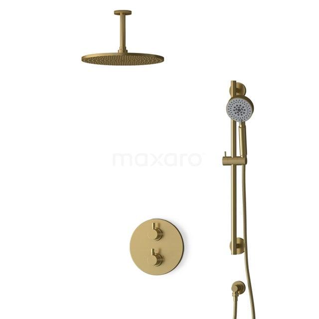 Inbouw Regendoucheset Radius Gold, Thermostaatkraan, 30cm Hoofddouche, Goud BIG55-00142