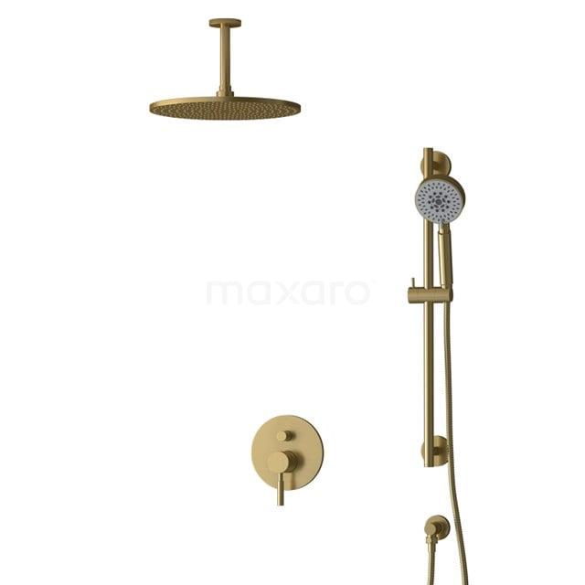 Inbouw Regendoucheset Radius Gold, Eéngreeps Mengkraan, 30cm Hoofddouche, Goud BIG55-00144