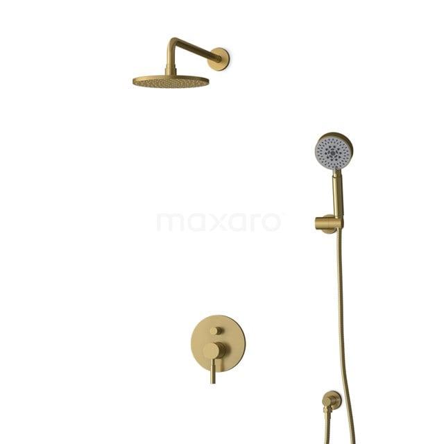 Inbouw Regendoucheset Radius Gold, Eéngreeps Mengkraan, 20cm Hoofddouche, Goud BIG55-00147