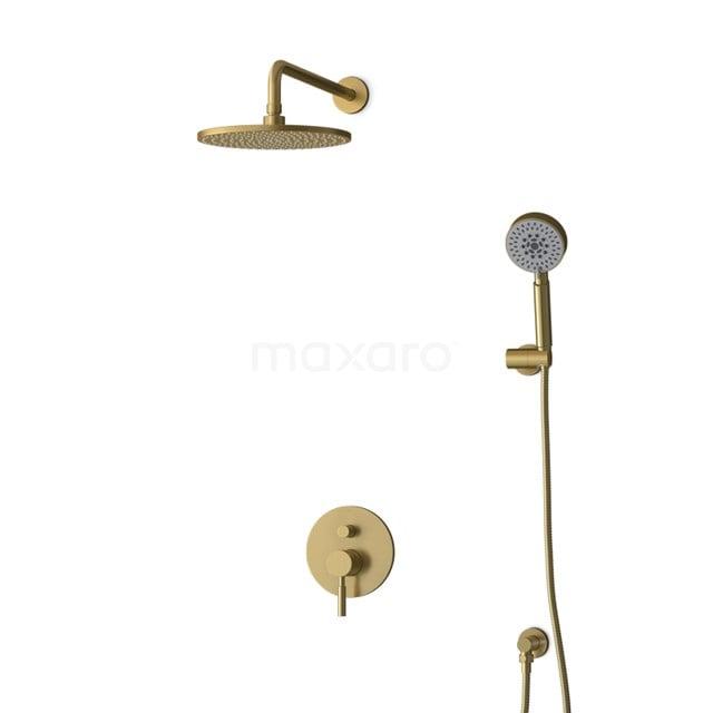 Inbouw Regendoucheset Radius Gold, Eéngreeps Mengkraan, 25cm Hoofddouche, Goud BIG55-00150