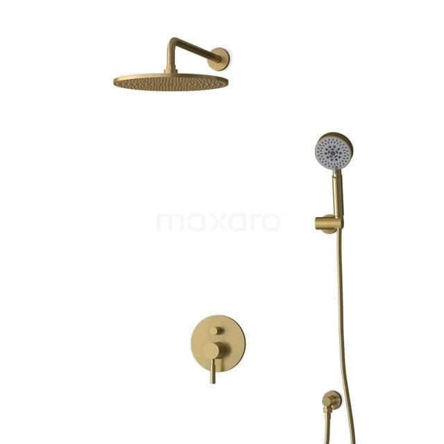 Inbouw Regendoucheset Radius Gold, Eéngreeps Mengkraan, 30cm Hoofddouche, Goud BIG55-00153
