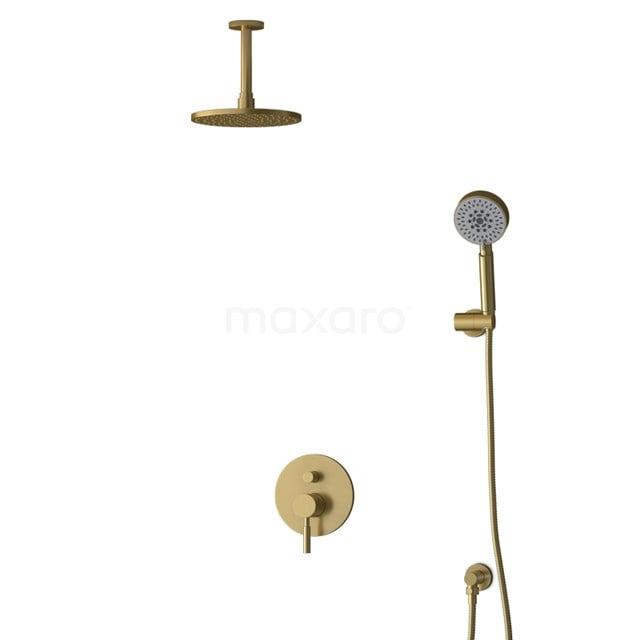 Inbouw Regendoucheset Radius Gold, Eéngreeps Mengkraan, 20cm Hoofddouche, Goud BIG55-00156