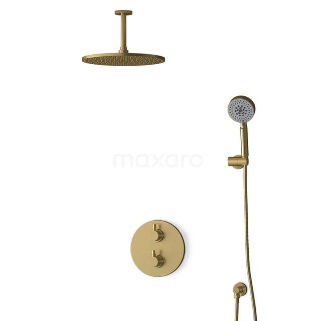 Inbouw Regendoucheset Radius Gold, Thermostaatkraan, 30cm Hoofddouche, Goud BIG55-00160