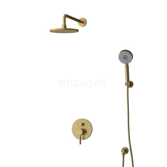 Inbouw Regendoucheset Radius Gold, Eéngreeps Mengkraan, 20cm Hoofddouche, Goud BIG55-00165