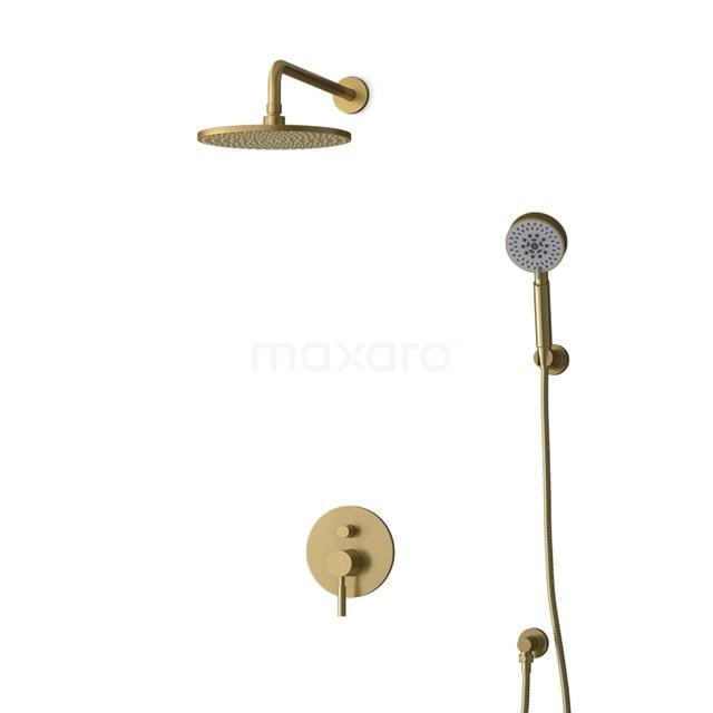 Inbouw Regendoucheset Radius Gold, Eéngreeps Mengkraan, 25cm Hoofddouche, Goud BIG55-00168