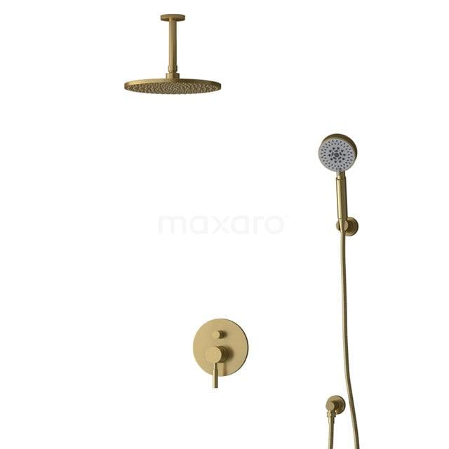 Inbouw Regendoucheset Radius Gold, Eéngreeps Mengkraan, 25cm Hoofddouche, Goud BIG55-00177