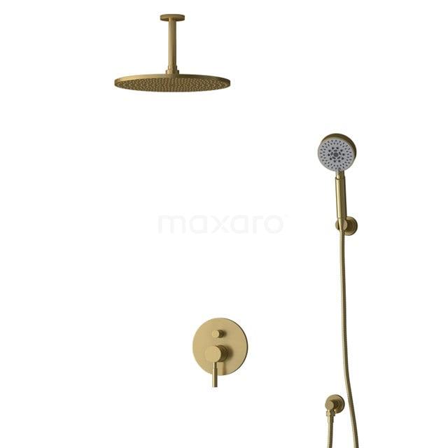 Inbouw Regendoucheset Radius Gold, Eéngreeps Mengkraan, 30cm Hoofddouche, Goud BIG55-00180