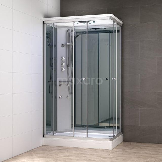 Complete Douchecabine 120x80cm Spiegelglas Modera Watermassage LED Verlichting AK1208-422101