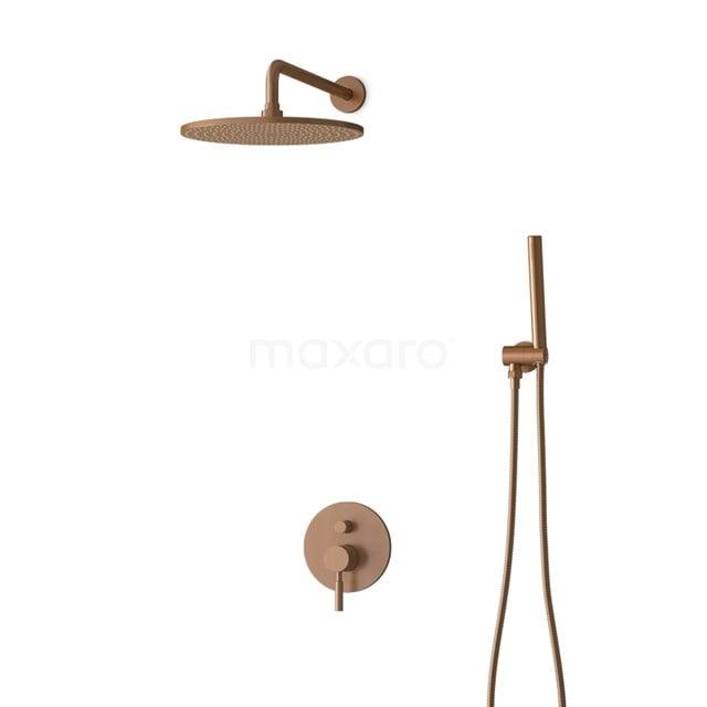 Inbouw Regendoucheset Radius Copper, Eéngreeps Mengkraan, 30cm Hoofddouche, Koper BIK55-00011