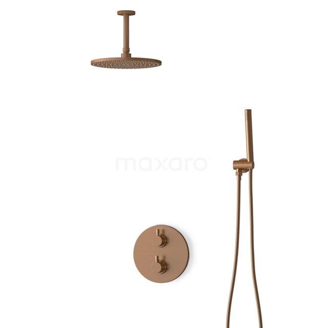 Inbouw Regendoucheset Radius Copper, Thermostaatkraan, 25cm Hoofddouche, Koper BIK55-00015