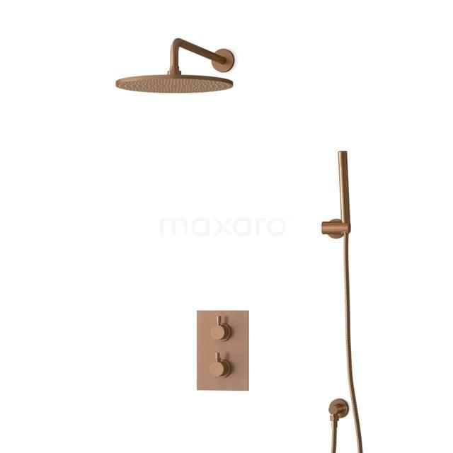 Inbouw Regendoucheset Radius Copper, Thermostaatkraan, 30cm Hoofddouche, Koper BIK55-00026