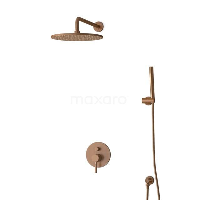 Inbouw Regendoucheset Radius Copper, Eéngreeps Mengkraan, 30cm Hoofddouche, Koper BIK55-00027