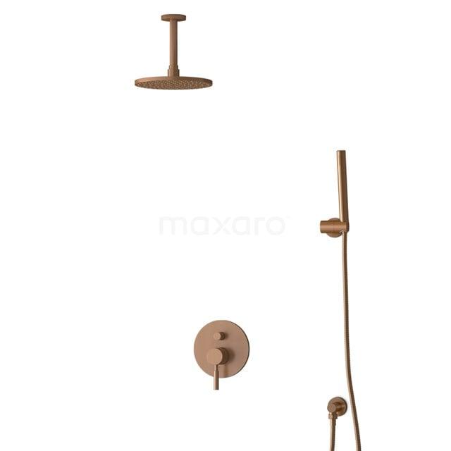 Inbouw Regendoucheset Radius Copper, Eéngreeps Mengkraan, 20cm Hoofddouche, Koper BIK55-00030
