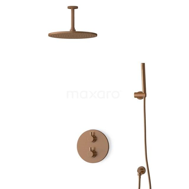 Inbouw Regendoucheset Radius Copper, Thermostaatkraan, 30cm Hoofddouche, Koper BIK55-00034