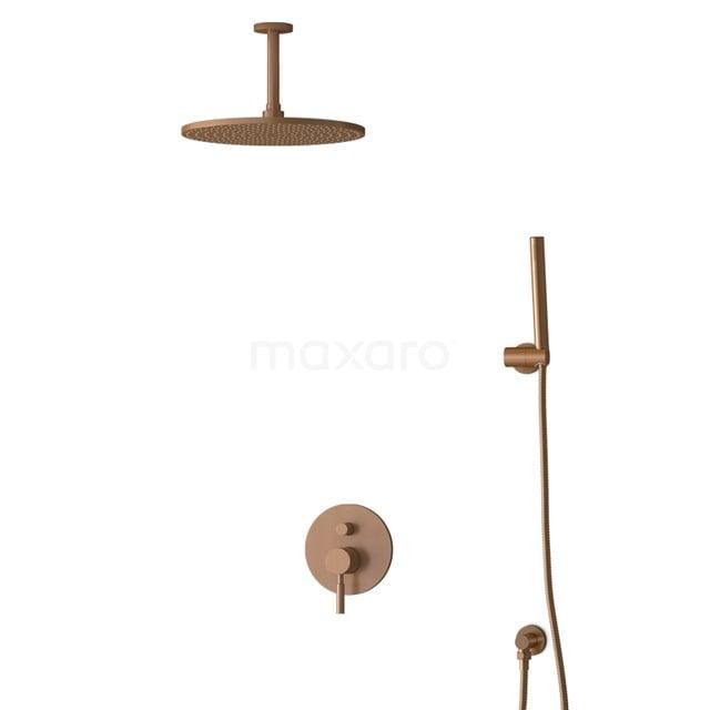 Inbouw Regendoucheset Radius Copper, Eéngreeps Mengkraan, 30cm Hoofddouche, Koper BIK55-00036