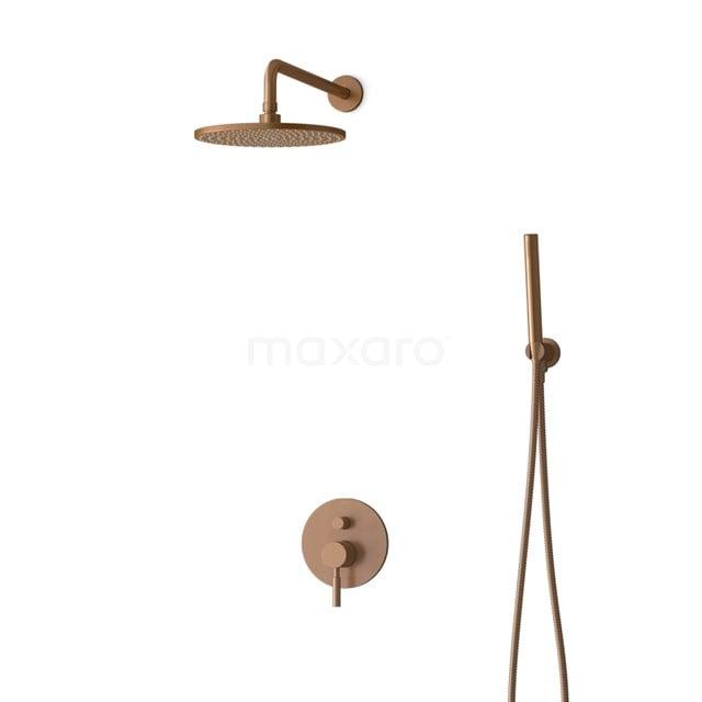 Inbouw Regendoucheset Radius Copper, Eéngreeps Mengkraan, 25cm Hoofddouche, Koper BIK55-00042