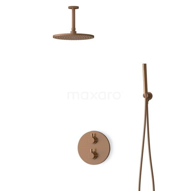 Inbouw Regendoucheset Radius Copper, Thermostaatkraan, 25cm Hoofddouche, Koper BIK55-00049